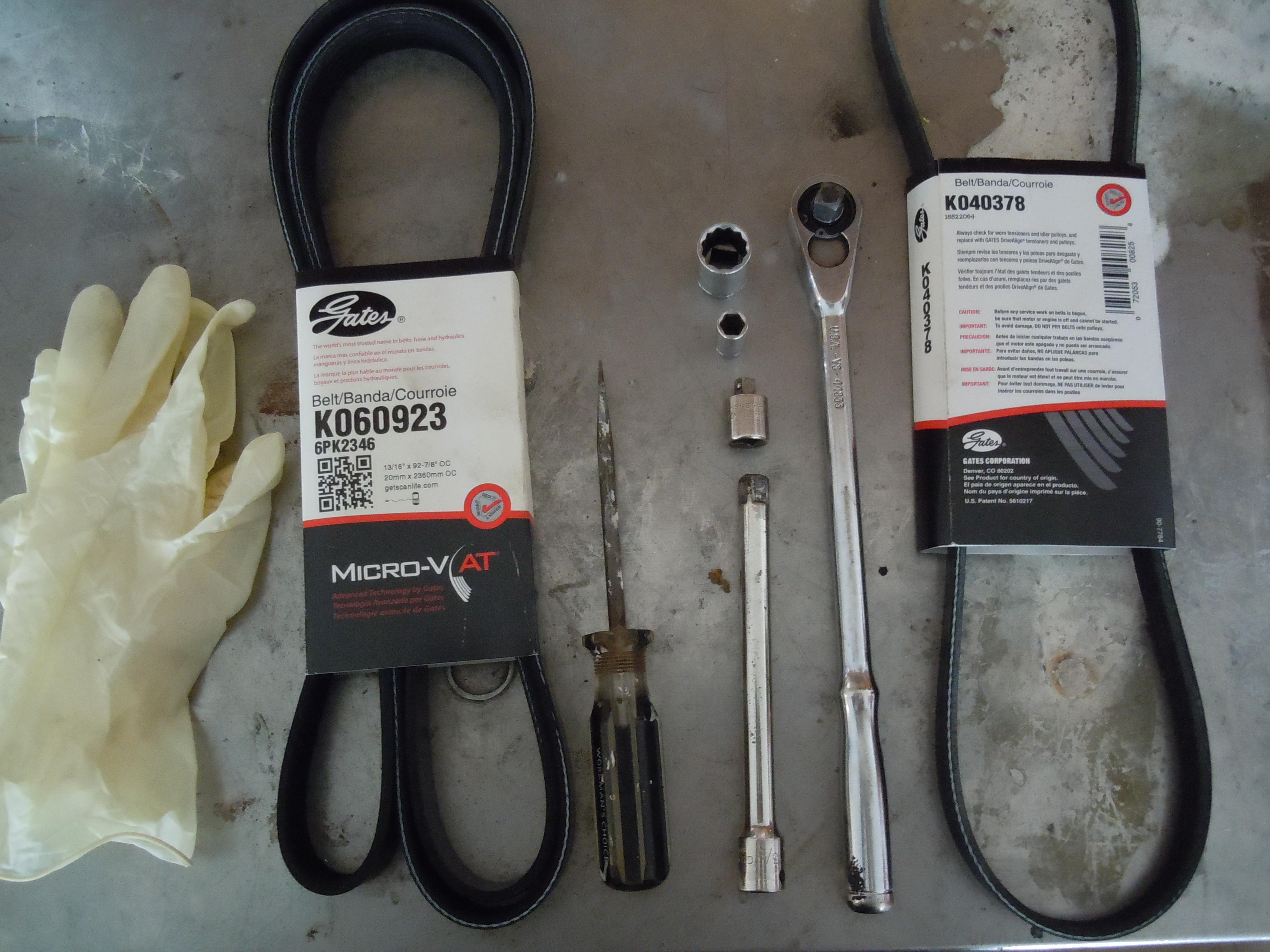 How to change alternator belt 72