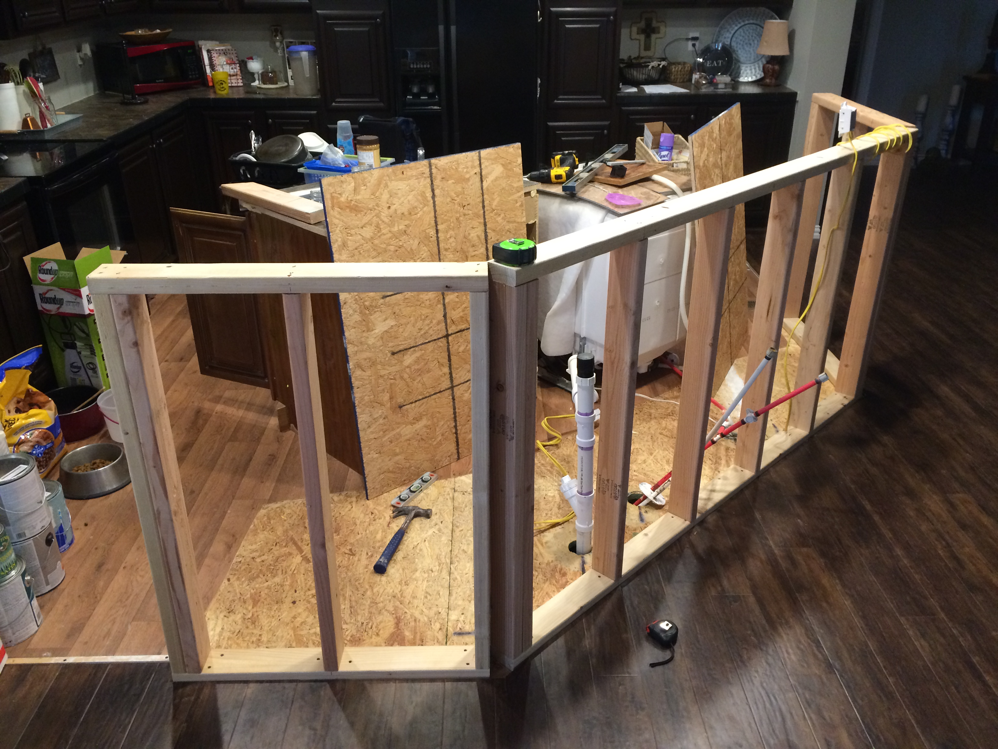 Tremendous How To Build A Kitchen Island Roses And Wrenches Wiring Digital Resources Counpmognl