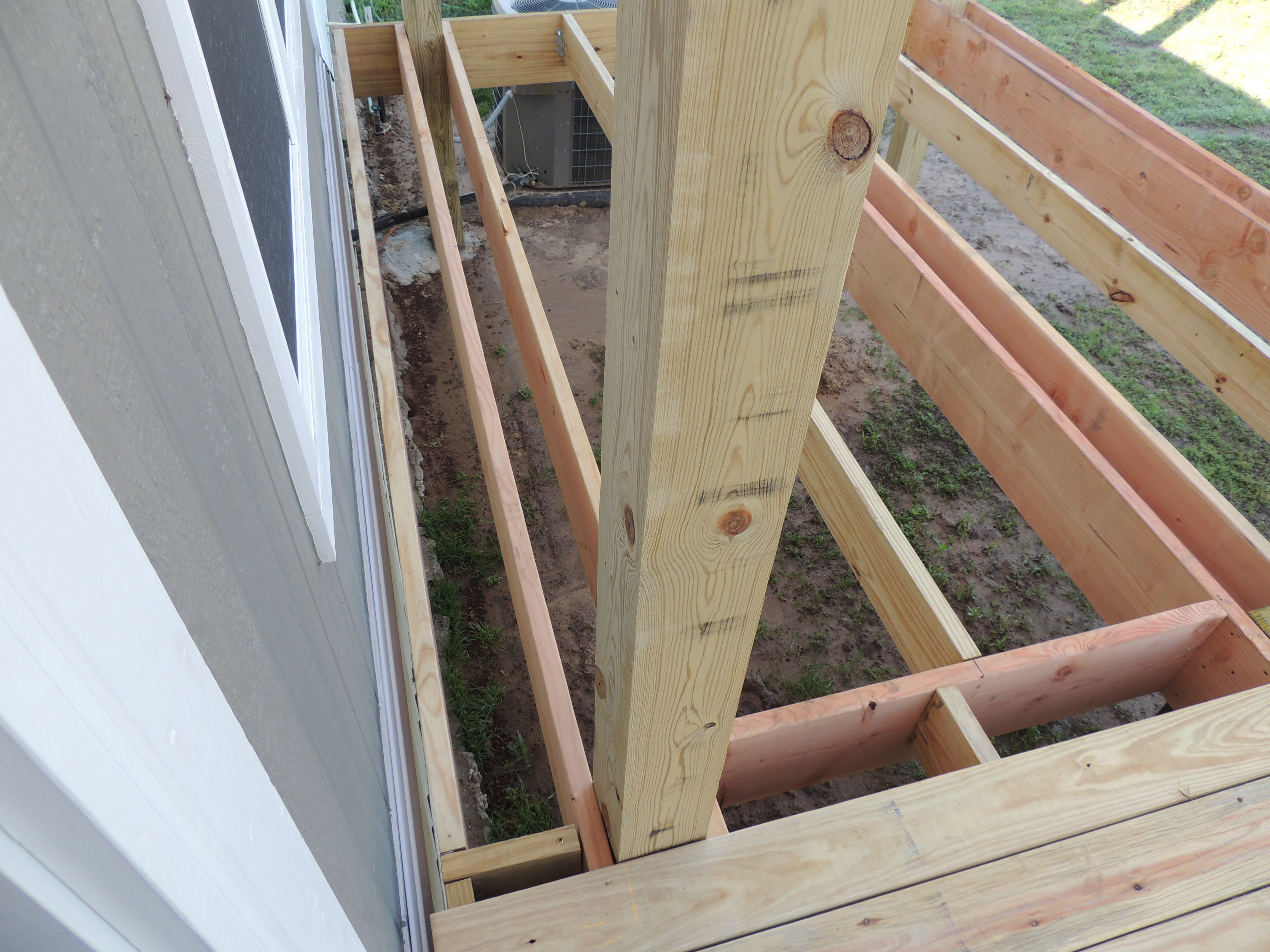 How To Build A Deck Or Porch With A Roof Part 2 Roses