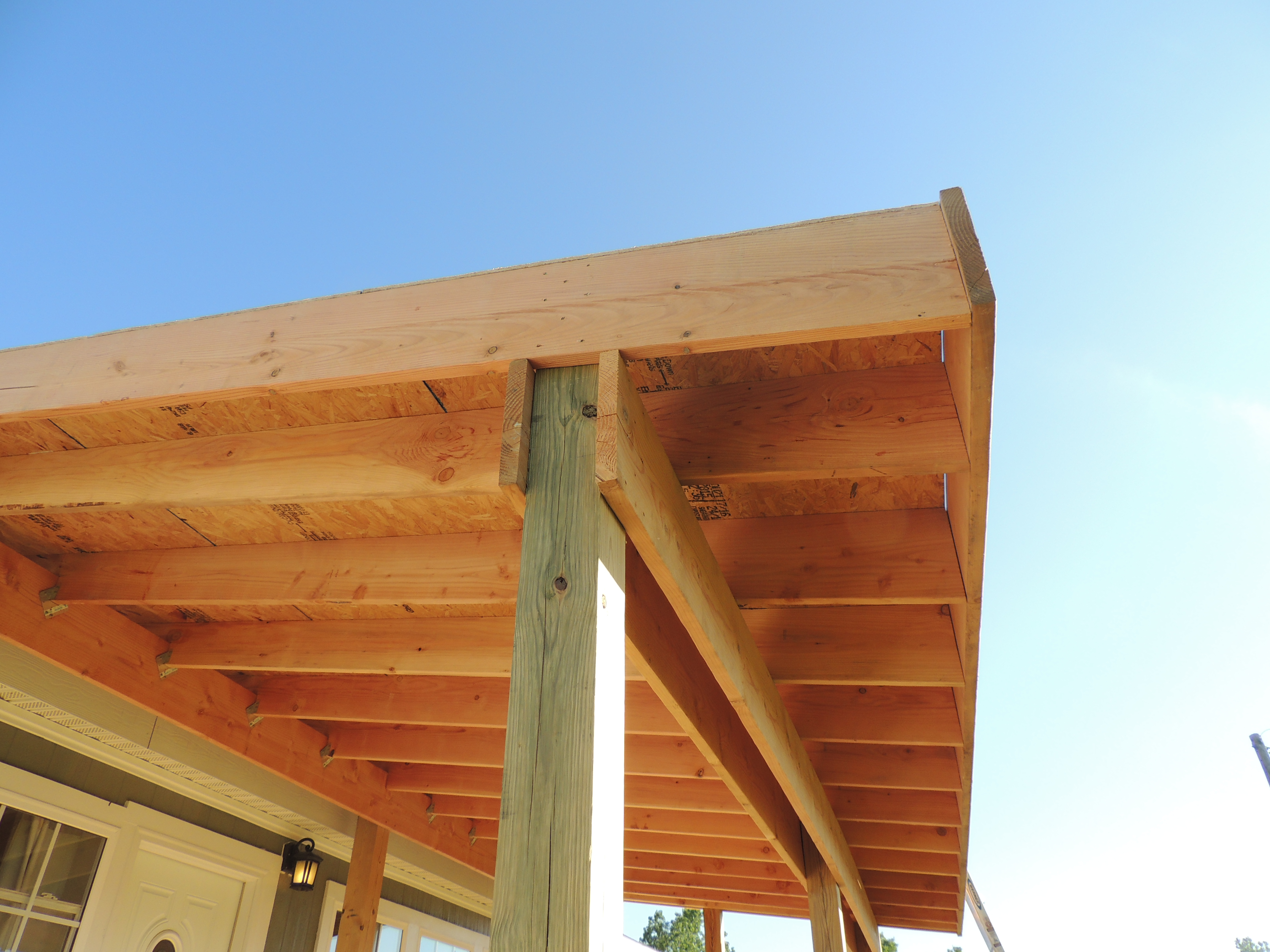How To Build A Deck Or Porch With A Roof Part 3 Roses